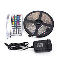 5M 5050 300 SMD IP65 RGB AC 100-240V With 44 Key Remote Control 12V 3A Power Supply