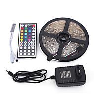 5M 300SMD 5050 Waterproof 44Keys IR Remote Controller 12V3A Power Supply LED Strip Light Sets AC100-240V