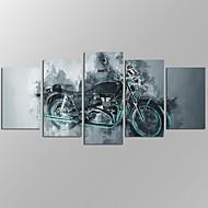 Paisagens Abstratas Modern,5 Painéis Tela Horizontal Estampado Decoração de Parede For Decoração para casa