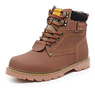 Bootsit-Tasapohja-Miesten-Kangas-Ruskea Keltainen Pronssi-Urheilu-Comfort