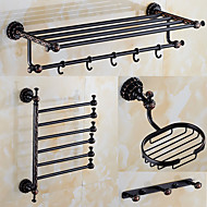 A Set of Four Products(Bathroom Shelf/Towel Bar/Soap Dishes/Robe Hook/)Oil Rubbed Bronze