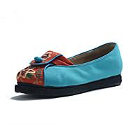 Women's Flats Spring Summer Fall Comfort Canvas Outdoor Dress Casual Athletic Flat Heel Flower Blue Red Beige Walking