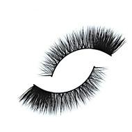 Cílios Cílios Tiras Completas de Cílios Olhos Cruzado A extremidade é mais longa Confeccionada à Mão Cílios de Lã Animal Banda Preta