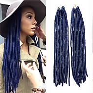 locs faux mt1b / azul sintéticos tranças de cabelo de crochê 18inch 90g kanekalon