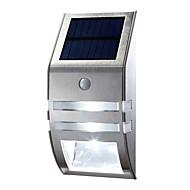 LED Night Light Stainless Steel Home Solar Garden Lights Outdoor Solar Wall Lamp Body Sensor Street Lamps