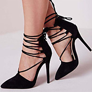 Women's Heels Spring Summer Fall Other Ankle Strap Fleece Office & Career Party & Evening Dress Casual Stiletto HeelZipper Lace-up