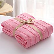 Tricotado,Sólido Sólido 100% Algodão cobertores