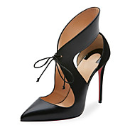 Women's Heels Spring Summer Fall Other Leatherette Office & Career Party & Evening Dress Casual Stiletto Heel Lace-up Black Other