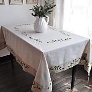 方形 刺繍 テーブルクロス , リネン 材料 ホテルのダイニングテーブル ウェディングパーティーの装飾 結婚式の宴会ディナー クリスマスの装飾の好意 表Dceoration ウェディング ディナーインテリアの好意 ホームデコレーション