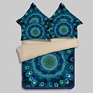 3D (tilfeldig mønster) Sengesett 4 deler Polyester 3D Reaktivt Trykk Polyester Dronning 1stk Dynetrekk 2stk Trekk 1stk Flatt Laken