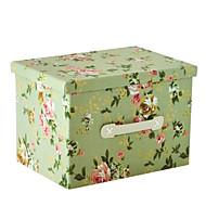 raylinedo® 26L sammenleggbar oppbevaringsboks klær teppe skap genser arrangør lerret med glede blomstermønstre