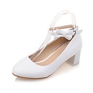 נשים-עקבים-PU סינטתי-חדשני נוחות-כחול ורוד לבן-חתונה משרד ועבודה שמלה יומיומי מסיבה וערב-עקב עבה