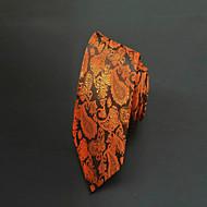 Gravata(Marrom,Poliéster)Estampado