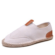 New Straw Bottom Flats For Men Canvas Shoes Breathable Lazy Shoes Cloth