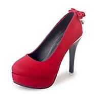 Homme-Décontracté-Noir Rouge-Talon Aiguille-Confort-Chaussures à Talons-Daim