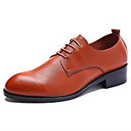 גברים-נעלי אוקספורד-עור-אחר-שחור חום-חתונה משרד ועבודה מסיבה וערב