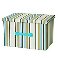 raylinedo® 39l sammenleggbare lerret oppbevaringsboks klær teppe skapet genser arrangør hjem docor boksen i blå striper