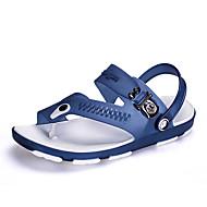 슬리퍼 플립 플롭-야외 캐쥬얼-남성-그외 조명 신발-PU블랙 블루 그레이