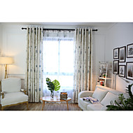 To paneler Window Treatment Rustikk , Blomsternål i krystall Soverom Lin/Bomull Blanding Materiale gardiner gardiner Hjem Dekor For Vindu