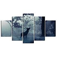 Zwierzę Nowoczesny,Pięć paneli Płótno Wszelkie Kształt Art Print wall Decor For Dekoracja domowa