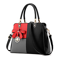 Women Bags Spring Summer Fall Winter All Seasons PU Shoulder Bag with Ruffles for Event/Party Casual Formal Outdoor Office & Career Black