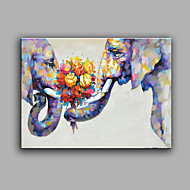 Peint à la main Abstrait Animal Horizontale,Moderne Un Panneau Toile Peinture à l'huile Hang-peint For Décoration d'intérieur