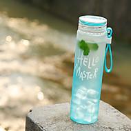 Mattiert Transparent Gehen Outdoor Trinkbecher, 480 ml Auslaufsicher Transportabel Glas Polypropylen Wasser Getränk mit Kohlensäure