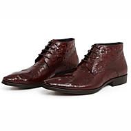 Férfi Csizmák Kényelmes Bőr Tavasz Ősz Tél Hétköznapi Kényelmes Fekete Burgundi vörös 1 inch alatt