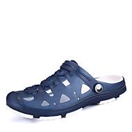 샌들-캐쥬얼-남성-구멍 신발-PU블랙 블루 브라운