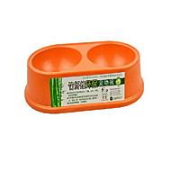 강아지 먹이 애완동물 그릇 & 수유 휴대용 그린 오렌지 베이지 대나무