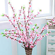 1 ענף PU צמחים פרחים לשולחן פרחים מלאכותיים 122*5*5