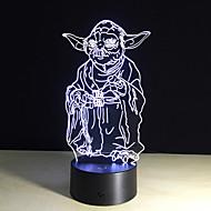 3d bulbing lichte 7 kleur veranderende speelgoed millennium falcon Darth Vader bb8 droid robot meester Yoda led lamp verlichting