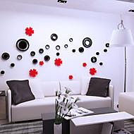 Botanisch Wand-Sticker 3D Wand Sticker Dekorative Wand Sticker,Vinyl Stoff Haus Dekoration Wandtattoo