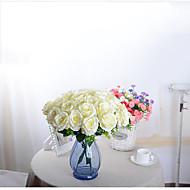 1 Gren Polyester Orkideer Roser Bordblomst Kunstige blomster 50