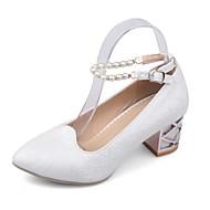 Homme-Mariage Bureau & Travail Décontracté Soirée & Evénement Habillé-Bleu Rose Violet Blanc-Gros Talon-Confort Nouveauté-Chaussures à