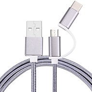 100 cm Micro USB Type-C Cable Braided Cell Phone Cable For Samsung Huawei Sony Nokia HTC Motorola LG Lenovo Xiaomi 100 cm Nylon