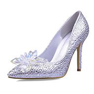 2017 New Arrivals Women's Shoes Best Seller Synthetic/Glitter Stiletto Heel Heels/Pointed Toe Pumps/Heels Wedding/Party & Evening/Dress Silver