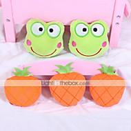 Brinquedo Para Cachorro Brinquedos para Animais Brinquedos para roer Brinquedos Felpudos rangido Fruta Téxtil Laranja Verde