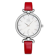 SK Women's Dress Watch Fashion Watch / Quartz PU Band Casual Elegant Red Orange Green Pink