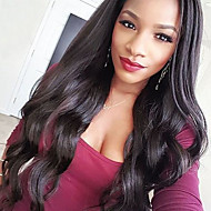 24 inch Body Wave Human Hair Lace Front Wigs Black #1 B Body Wave Glueless Lace Front