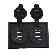 12v / 24v שקע 2pcs 3.1a כוח USB עם לוח בעל דיור עבור RV משאית הסירה מכונית