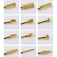 12pcs Gold Tungsten Steel Grinding Head Specification