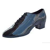 Obyčejné-Pánské-Taneční boty-Latina Jazz Taneční tenisky Moderní Slasa Swing-Koženka-Nízký podpatek-Černá