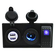 로커 스위치 점퍼 전선 및 주택 소유자와 DC 12V / 24V 주도 4.2A 듀얼 USB 충전기의 전원 소켓