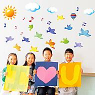 Zvířata Komiks Hudba Samolepky na zeď Samolepky na stěnu Ozdobné samolepky na zeď,Papír Materiál Home dekorace Lepicí obraz na stěnu