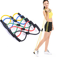 1Pcs 8 Shaped Elastic Tension Durable Rope Chest Expander Yoga Pilates Sport Fitness Belt Body Shape Health Care Random Color
