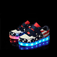 LED's Shoes Boy's Girl's Sneakers Spring Summer Fall Winter Light Up Shoes Outdoor Athletic Casual Flat Heel Animal Print Blue Pink