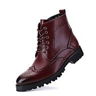 Egyéb-Alacsony-Női cipő-Csizmák-Alkalmi-PU-Fekete Piros Vörös
