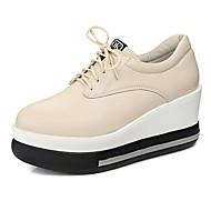 Oxford-kengät-Creepers-Naisten-Tekonahka-Musta Valkoinen Beesi-Toimisto Puku Rento-Comfort