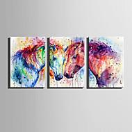 canvas Set Abstrato Animal Moderno,3 Painéis Tela Vertical Impressão artística Decoração de Parede For Decoração para casa